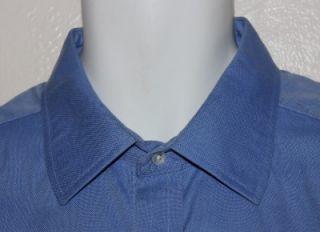 Turnbull ASSER Royal Blue Cotton Dress Shirt French Cuff 17 5 Mint