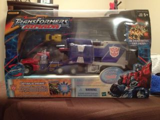 Transformers Armada Optimus Prime w Sparkplug Mini Con
