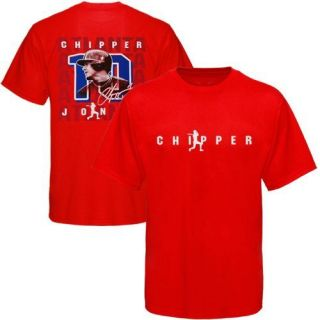 Chipper Jones Atlanta Braves 10 Name and Number Player T Shirt Red
