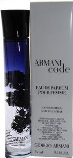 ARMANI CODE BY GIORGIO ARMANI 2.5 OZ EDP SPRAY TESTER FOR WOMEN WITH
