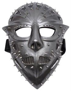 Demon Warrior Death Mask Spike Black Heavy Metal Hallow