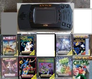Used Atari Lynx II Console System 9 New Games SEALED 077000503077
