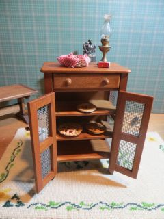 Dollhouse Miniature Furniture Artisan D2E Pie Safe with Pies EXTRAS