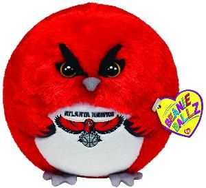 Ty Beanie Ballz NBA Atlanta Hawks 5 Sports Basketball Team Plush