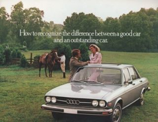 1976 Audi 100LS 100 LS Dealer Sales Brochure Book