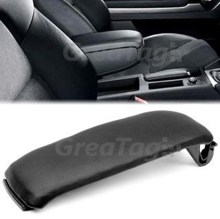 2000 2006 Audi A4 A6 S4 Leatherette Center Console Armrest Cover Black