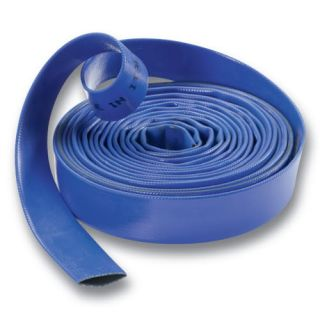 PVC Water Delivery Hose   Discharge Pipe Pump Lay Flat Irrigation Blue