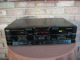 Top of Line 3 Head Auto Reverse Dual Cassette Deck 120 240 Volt