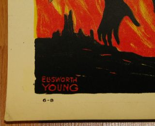 Poster Remember Belgium Silhouetted Hun Ellsworth Young Eerie