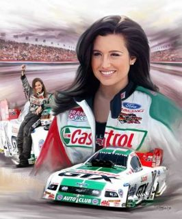 Ashley Force Giclee Print on Canvas B 0153