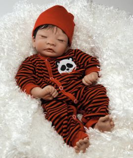 Panda Twin Boy 17 Asian Baby Doll Realistic and Lifelike Baby Doll in