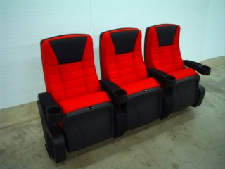 THEATER CHAIRS HOME THEATRE CHAIR MOVIE SEATS CINEMA RED FABRIC