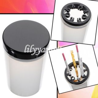 Pro Nail Art Brushes UV Pen Holder Cleanser Cup Glass