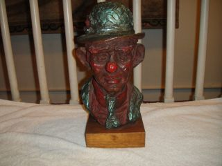Vintage Austin Productions Clown Sculpture from 1965 Signed Mardo