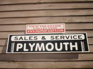 Plymouth Classic Antique Auto Garage Art Dealer Service Sign