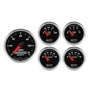 Auto Meter Designer Black II Series Analog Gauge Kit 1201