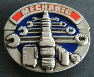 Garage Mechanic Car Truck Motor Engine Tool Belt Buckle Boucle de