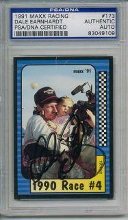 Dale Earnhardt SR Signed Autographed PSA DNA Card Auto
