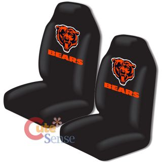Chicago Bears Car Seat Cover 2pc NFL Auto Accessories Set