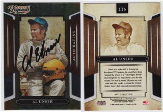 Al Unser Autograph Indy Car Legend Trading Card Signed Signature