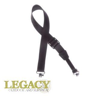 Tactical Nylon Rifle Shotgun Sling w Two Swivels Black