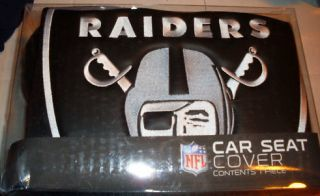 OAKLAND RAIDERS CAR SEAT COVERS BRAND NEW IN THE BOX AL DAVIS OAKLAND
