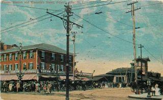 Atlantic City NJ Pennsylvania Railroad Station Depot Kuehnles Hotel