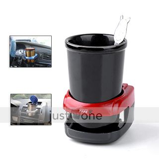 Car Water Bottle Coffee Drink Cup Can Stand Holder Red