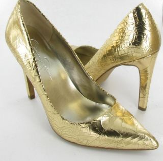 Jessica Simpson Nolita Classic Pumps Gold Womens size 8 M Used $69