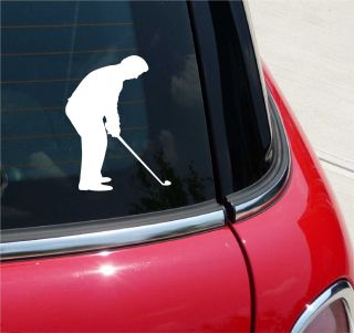 GOLF 5 GOLFER GOLFING PUTT GRAPHIC DECAL STICKER VINYL CAR WALL