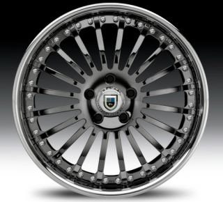 22 asanti AF122 Black Chrome Wheels Rims 2 Piece Tone