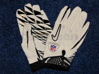 Mens Nike Vapor Jet NFL Football Receiver Gloves White Gray Black Many
