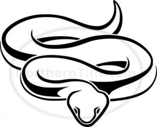 Tribal Snake Car Decal Window Sticker Wall Art 480