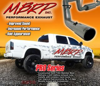 MBRP S5114409 Stainless Exhaust Dual Exit System Kit Dodge RAM 1500 SB