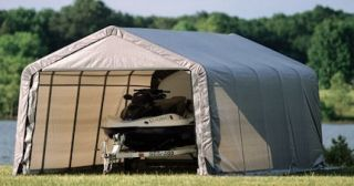 ShelterLogic Auto Car Garage Storage Peak Style 10x20x10 Boat Tractor