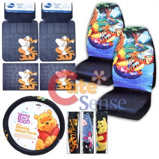 The Pooh Friends Tigger Car Seat Covers Accessories Set 7pc