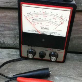 Vintage Car Auto Test Tachometer Dwell Meter Fox Valley
