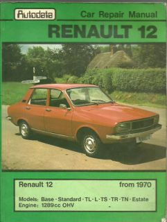 Renault 12 1970 Autodata Car Repair Manual
