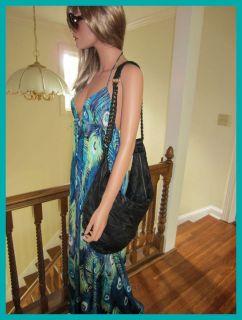Black Cleobella Ashlyn Patchwork Leather Hobo Bag Handbag $390