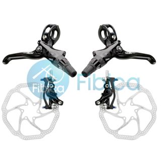 2013 SRAM Avid Elixir X0 Trail 4 Piston x 0 Hydraulic Disc Brake Set w