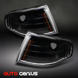 98 FORD MUSTANG V8 GT BLACK PARKING SIGNAL CORNER LIGHTS LAMP PAIR SET