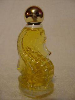 Vintage 80s Avon Sea Horse Miniature Decanter Occur Cologne w Box