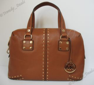 Michael Kors Astor Large Leather Satchel Tote Handbag Bag Continental