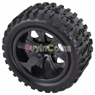 RC 1/10 RC On Road Car Toy Truck Rubber Tires Tyre Plastic Wheel Rim