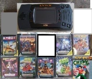 USED Atari Lynx II Console System & 9 NEW Games Sealed