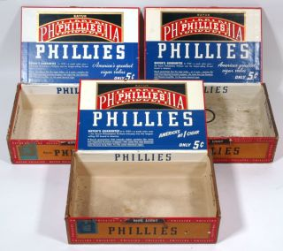 1930s Philadelphia Phillies Baseball Related Cigar Boxes