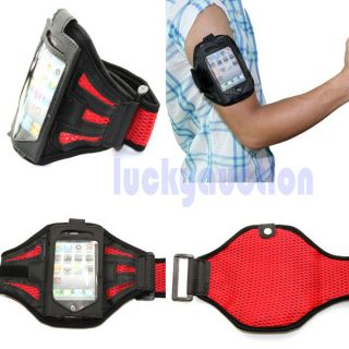 Red Sports Gym Equipment Armband Arm Band Case Cover For iPhone 4 4GS