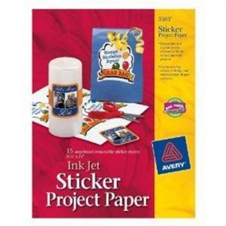 Avery Dennison 3383 Personal Creations Sticker Project Paper 15 Sheets