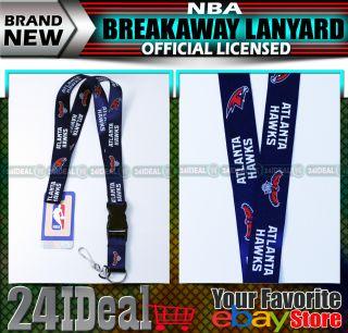 Atlanta Hawks NBA Keychain Breakaway Lanyard Holder