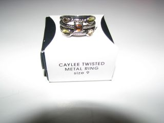 SALE! AVON   DISCONTINUED   Caylee Twisted Metal Rhinestone Ring   NIB